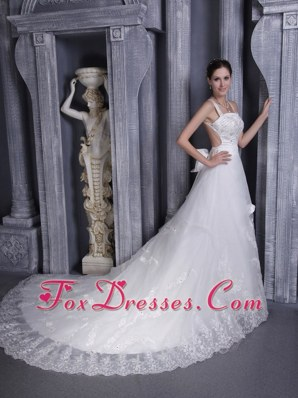 Impressive Chapel Train Taffeta and Organza Wedding Dress
