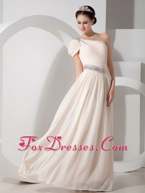 Prom Dress Beading One Shoulder Chiffon