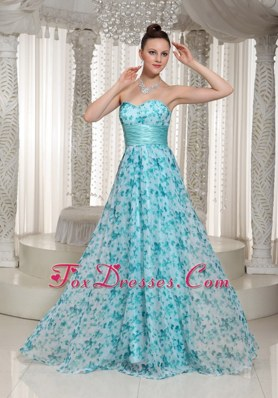 2013 Empire Printed Sweetheart Prom Dress For Formal
