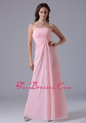 Ruches Decorate Baby Pink Bridesmaid Dresses In 2013
