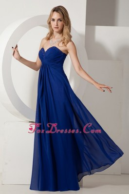 Empire Sweetheart Chiffon Navy Blue Bridesmaid Dresses