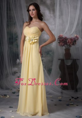 Yellow Sweetheart Bridesmaid Dresses with