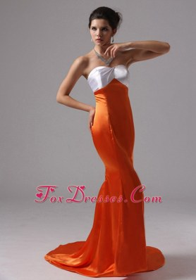 Orange Red Mermaid Sweetheart Celebrity Pageant Dresses For 2013