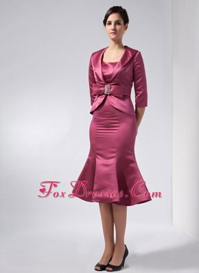 Straps Knee-length Wedding Outfits for Brides Mother