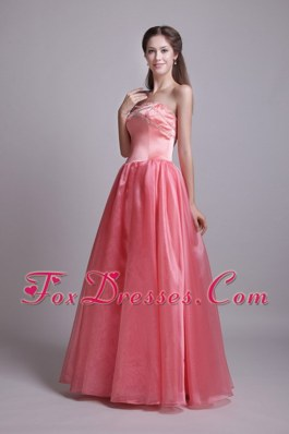 Watermelon Beading Cheap Princess Sweetheart Prom Gown