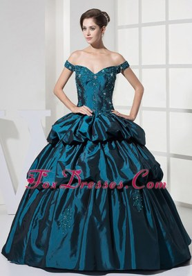 Cheap 2013 Beading Pick-ups Bodice Quinceanera Dress