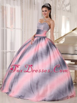 Cheap Sweetheart Quinceanera Dress Multi-color Beading Ruch