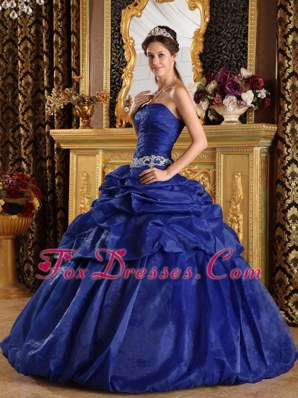 Royal Blue Ball Gown Strapless Corset Quinceanera Dress