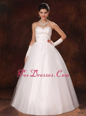 Beautiful Sweetheart A-line Bridal Gown Beading