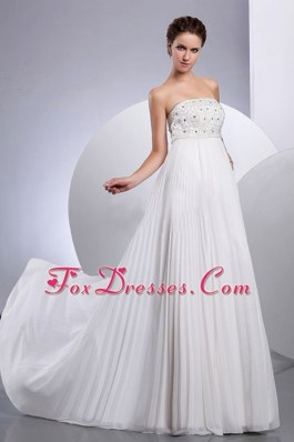 Strapless Beading Ruched A-line Wedding Dress 2013