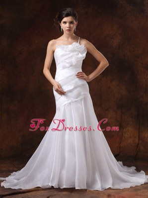 Cheap Mermaid Customize One Shoulder Wedding Dress