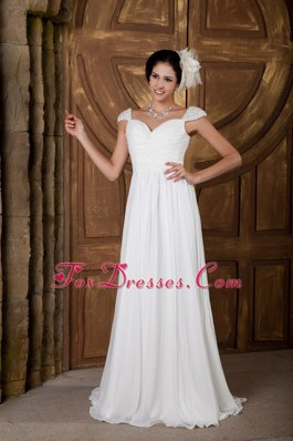 Cheap Elegant Wedding Dress Empire Sweetheart Chiffon Beading