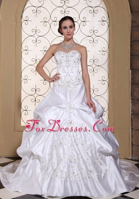 A-line Wedding Dress For 2013 Custom Made Pick-ups