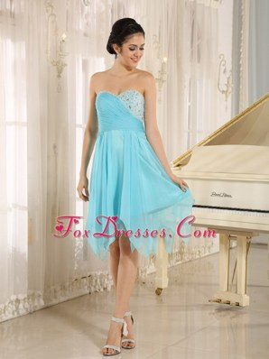 Aqua Sweetheart Cocktail Homecoming Dresses With Beading