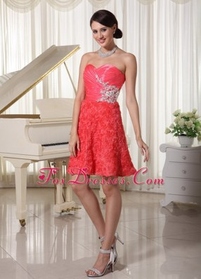 Cocktail Homecoming Dresses Sweetheart Appliques Beading