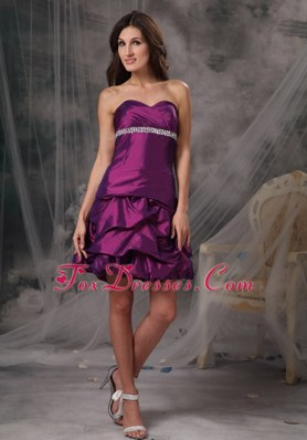 A-line Sweetheart Taffeta Beading Cocktail Holiday Dresses