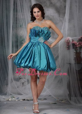 Sweetheart Mini-length Taffeta Beading Cocktail Graduation Dresses