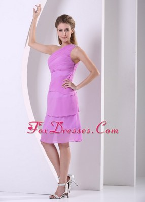 Beading One Shoulder Knee-length Cocktail Homecoming Dresses