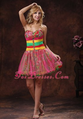 2013 Colorful Sweetheart Beaded Cocktail Graduation Dresses