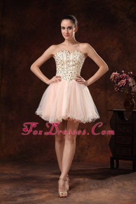 Rhinestones Strapless Cocktail Homecoming Dresses Custom Made