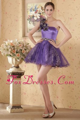 One Shoulder Beading Cocktail Homecoming Dresses