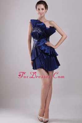 Special Strapless Prom Cocktail Dresses Mini-length Beading
