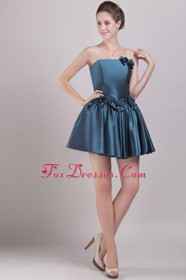 Bowknots Prom Cocktail Dress A-Line Strapless Mini-length