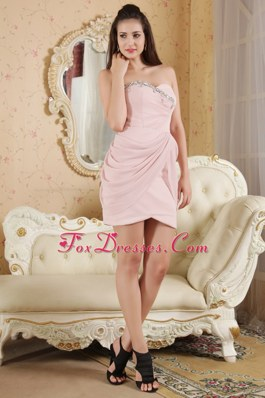 Sweetheart Baby Pink Prom Holiday Dresses Beading
