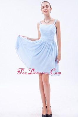 Prom Cocktail Dresses with Straps Ruche Knee-length