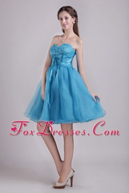 Bow A-line Beading Sweetheart Short Prom Homecoming Dress