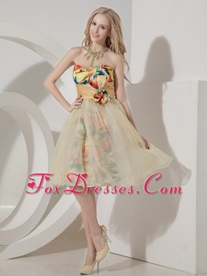 Colorful Prom Dress Sweetheart Beading Knee-length