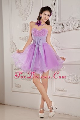 Lavender Sweetheart Princess Prom Cocktail Dresses Beading