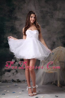 White A-line Sweetheart Mini 2013 Dama Dresses