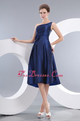 Navy Blue Dama Dresses for Quinceanera with One Shoulder