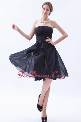 Princess Knee-length Brown Dama Dresses for Quinceanera with Bow
