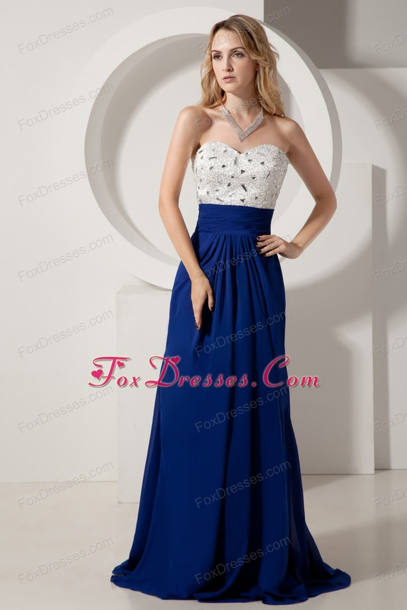 Designer Column Sweetheart Brush Beading Prom Dress