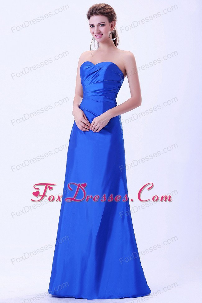 Royal Blue Sweetheart Floor-length Bridemaid Dress