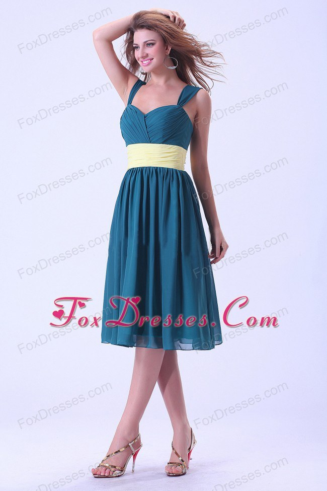 Chiffon Straps Homecoming Dress Knee-length