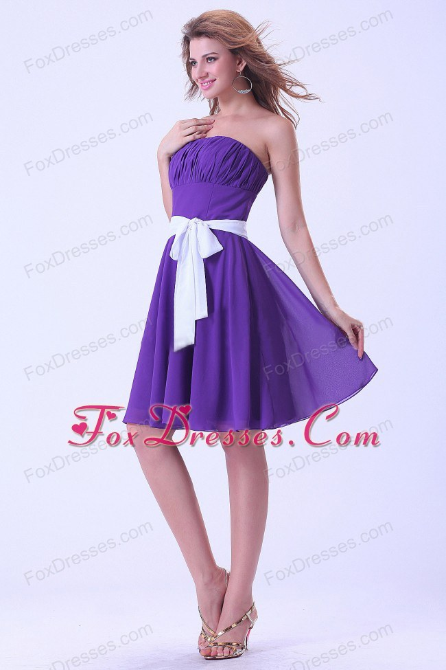 Purple And White Bridesmaid Dresses - Flower Girl Dresses