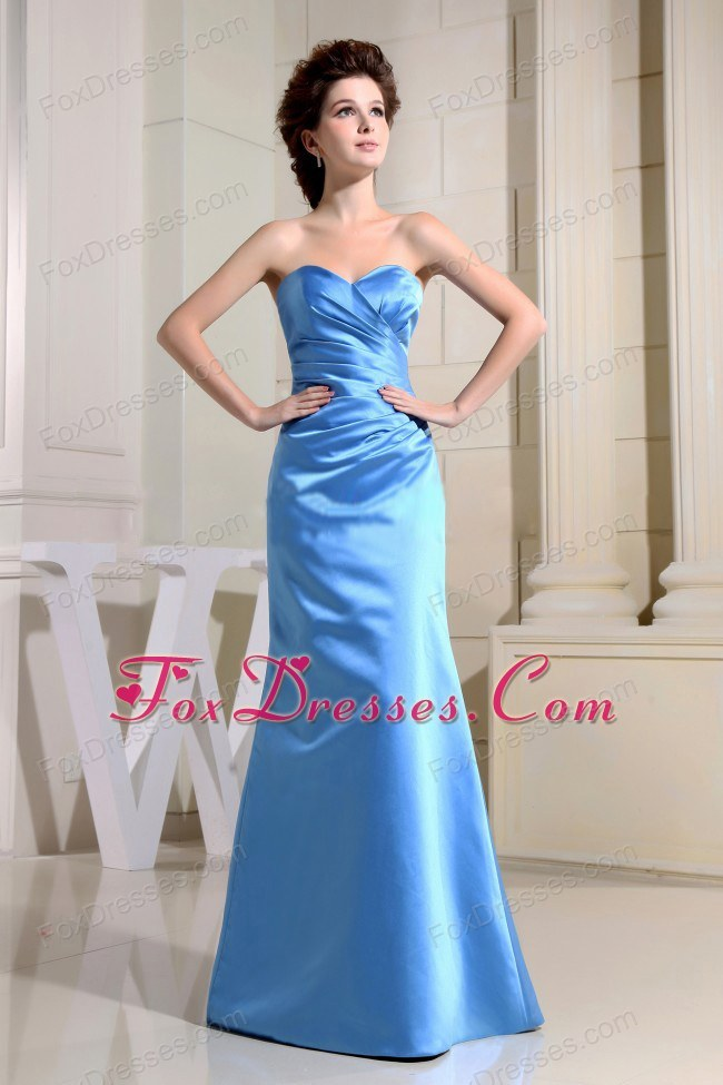 Blue Sweetheart Chief Bridesmaid Bress in Taffeta
