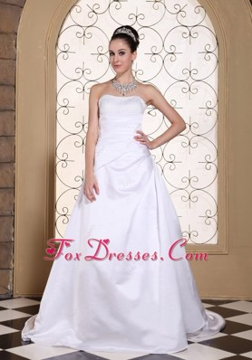 Sequined Elegant Wedding Dress 2013 Satin Court Train