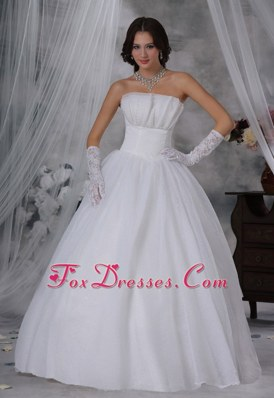 Ball Gown Wedding Dress For 2013 Floor-length Strapless