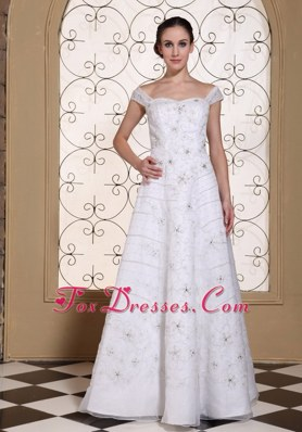 Off The Shoulder Elegant Wedding Dress Embroidery Beaded