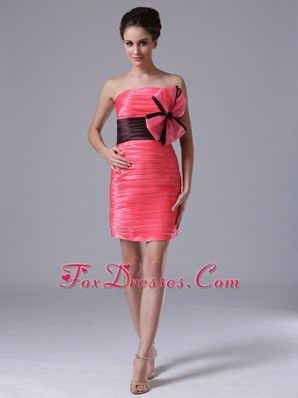 Lovely Ruching Red Column Strapless Prom Pageant Dresses