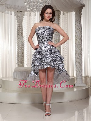 Pick Ups High-low Popular Strapless Party Dress