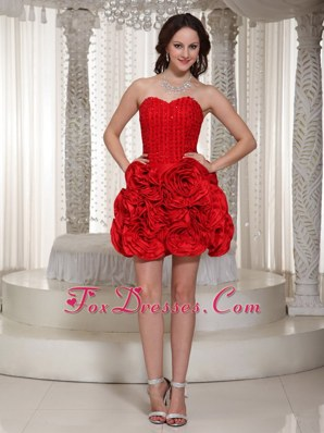 Cheap Red A-line Sweetheart Mini-length Cocktail Dresses