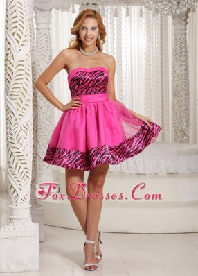 Lovely Short Sweetheart Hot Pink 2013 Cocktail Dress