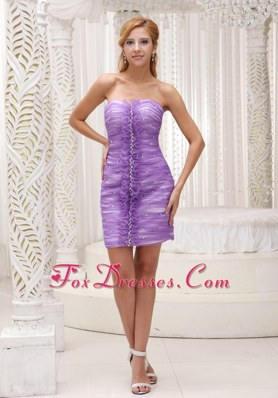 Lavender Prom Homecoming Dress 2013 Ruching Mini-length