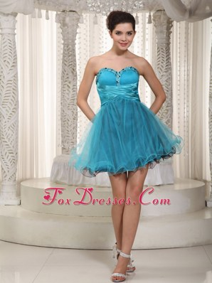 A-line Sweetheart Beading Prom Homecoming Cocktail Dress