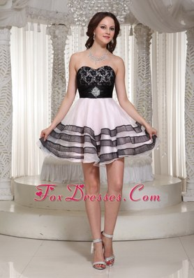 A-line Sweetheart Prom Homecoming Dress Mini-length